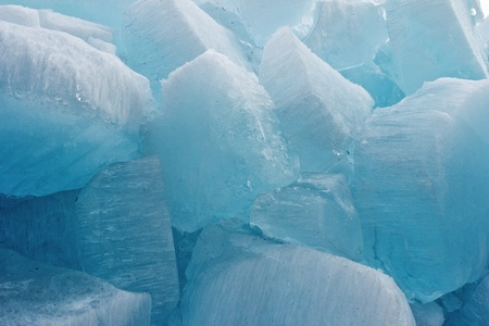Huge pieces of ice on Baikal for an excellent background photo