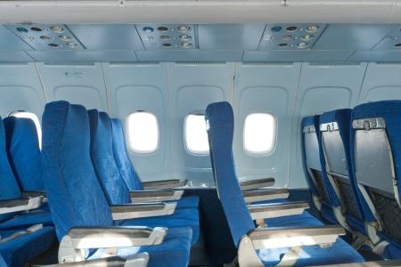 Passenger seats interior of salon of the plane