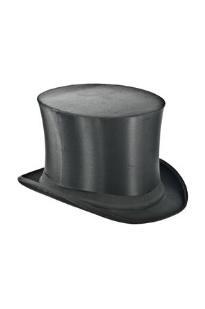 Black top-hat on white background - isolated photo