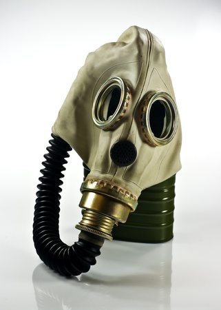 Old military gas mask on white background Stock Photo - 8776958