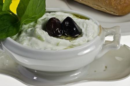 tzatziki: Traditional Greek dip tzatziki Stockfoto