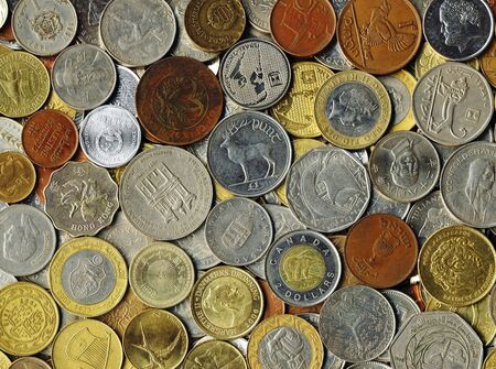 Various old coins on a flat surface Stock Photo - 9186173