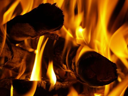 comfortableness: Fire in the chimney