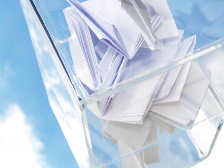 mayoral: Ballot box with Votinglist made of Plexiglass