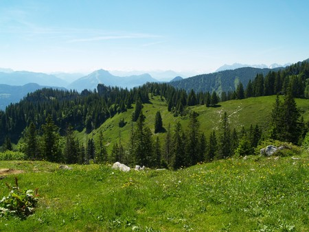 The Alps in summer Stock Photo