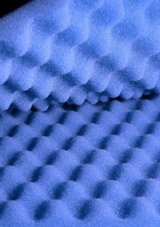 sound proof: Two sheets of blue acoustic foam Stock Photo