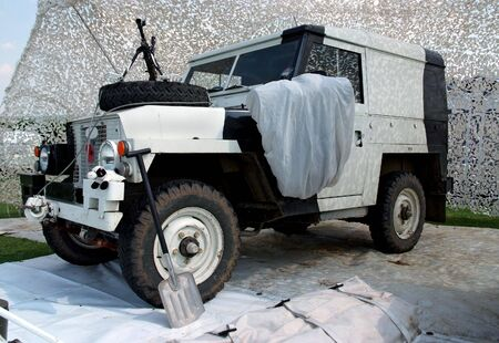 artic: Military vehicle and accessories for artic conditions Stock Photo