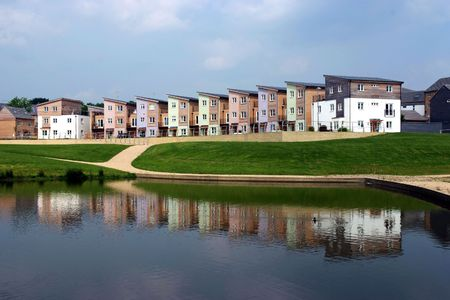 housing development: A development of new houses made mostly of wood