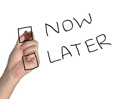 Now and Later Checkbox Stock Photo - 10558104