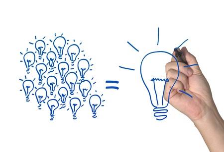 lluvia de ideas: Muchas ideas peque�as que una grande