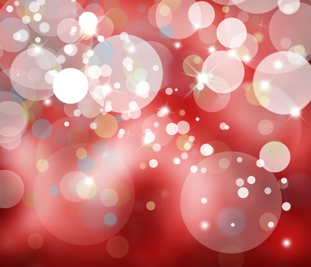 Red blurry lights background. Stock Photo