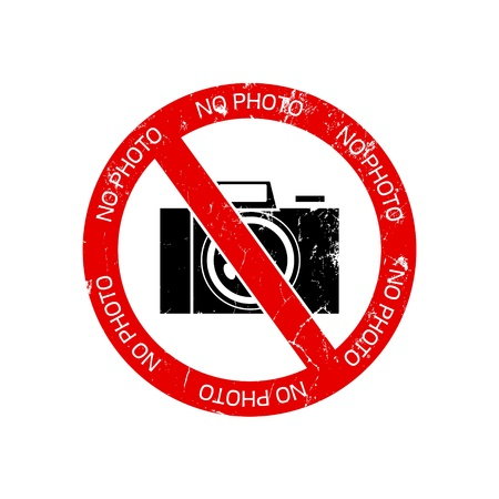 no photo: No photo camera sign on white background
