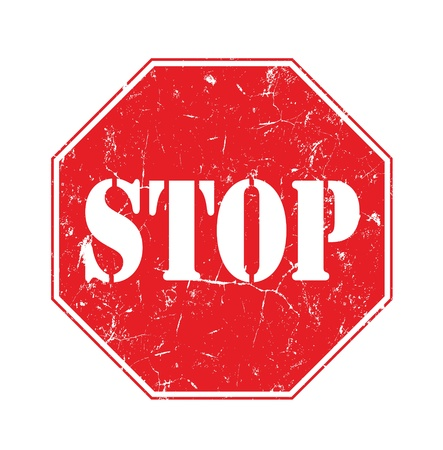 f Stop sign isolated on pure white  Stock Photo