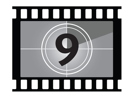 Film Industry .A stock photo of a movie leader countdown. photo