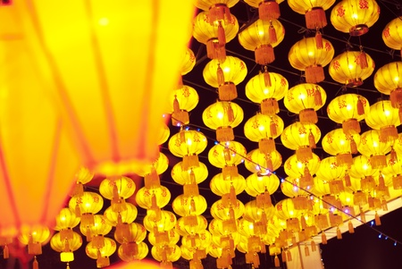 Asian lanterns photo