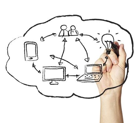 Cloud Computing-Konzept skizziert Standard-Bild - 11793039