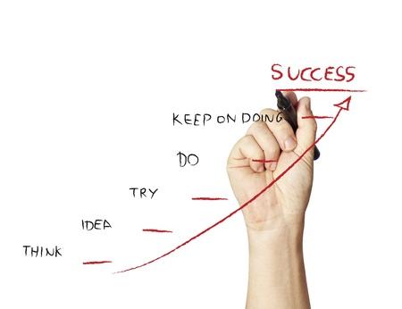 Business-Zeichnung Erfolg Standard-Bild - 11985939