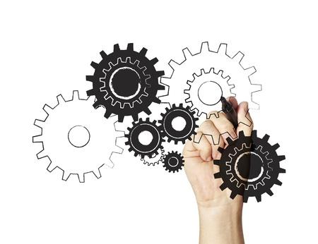 gears: Motores y Maquinaria rueda rueda dentada Vector
