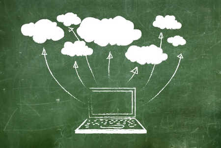 communications technology: Cloud computing concept.