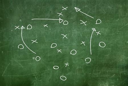 Fußball Spiel-Strategie gezogen Standard-Bild - 12037949