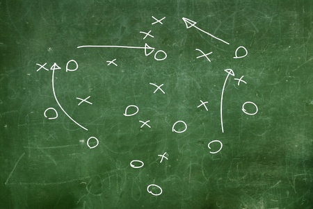 Soccer game strategy drawn Stock Photo - 12037949