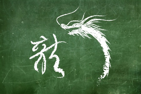 Vector of Ancient Chinese Dragon Pattern  photo
