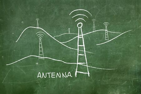 wireless transmission: Satellite dish transmission  Stock Photo