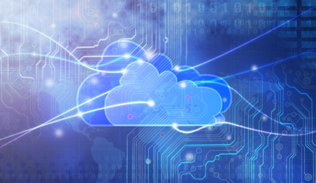 Concept of cloud computing. photo