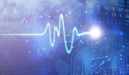 battement du coeur: Dessin Trace pouls et la conception par ordinateur
