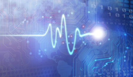 tętno: Rysunek Åšlad puls i projektowanie komputerowe