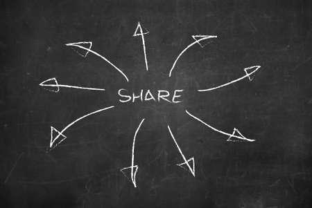 Concept of social media sharing  photo