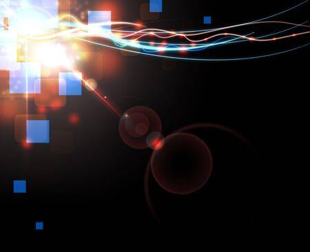 hi tech background: Red elegant background