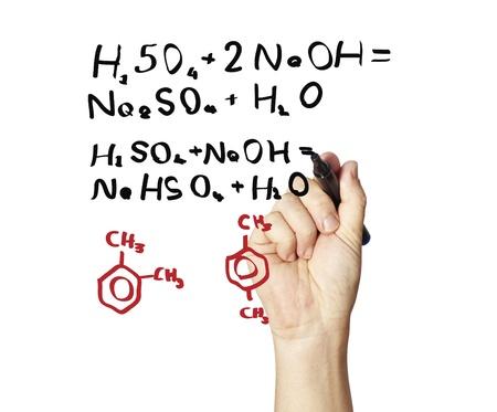 calculus: Human hand using chalk  Stock Photo