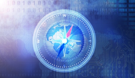 Blue compass Stockfoto