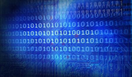 codigo binario: El código fuente de tecnología de fondo