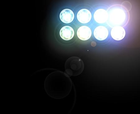 Spotlight with Laser rays photo