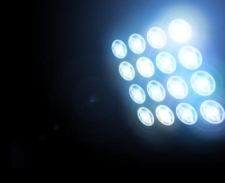 Bühne Spotlight mit Laser-Strahlen Standard-Bild - 12404727