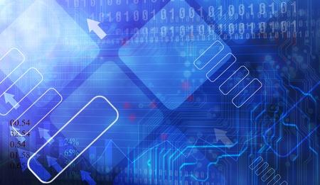 web commerce: Linea futuristica sfondo blu