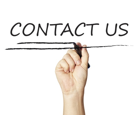 Drawing contact us Stock Photo - 12938347