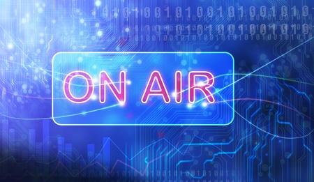 newscaster: ON AIR