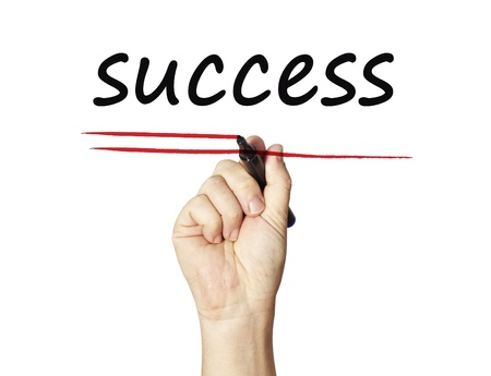 Success on whiteboard Stock Photo - 12938339