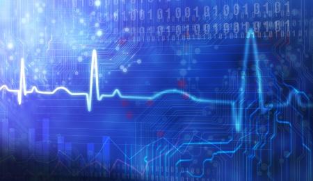 Computer designed grunge style textured medical background