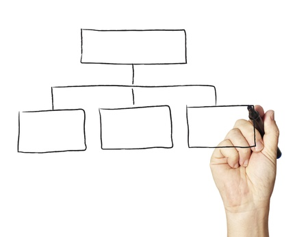 planning diagram: Female drawing flow chart