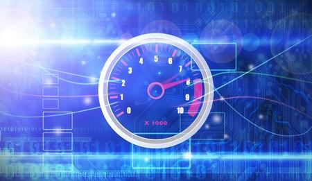 car dashboard: speedometer