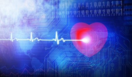 Lovers heart cardiogram photo