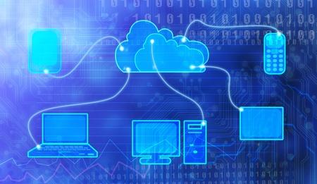 Cloud Computing digitale Standard-Bild - 12938502