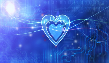 heart inside technology  Stock Photo - 12938415