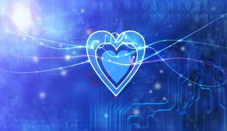 heart inside technology  photo