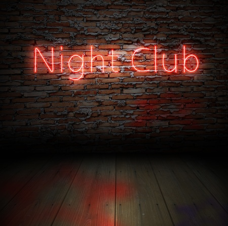 Neon sign of a night club  photo