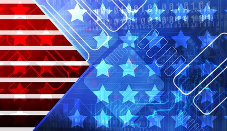 independent day: Grunge metal rusty america pattern independent day Stock Photo